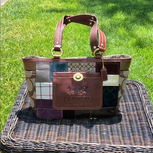 Patchwork Coach Bag - Worn Once!